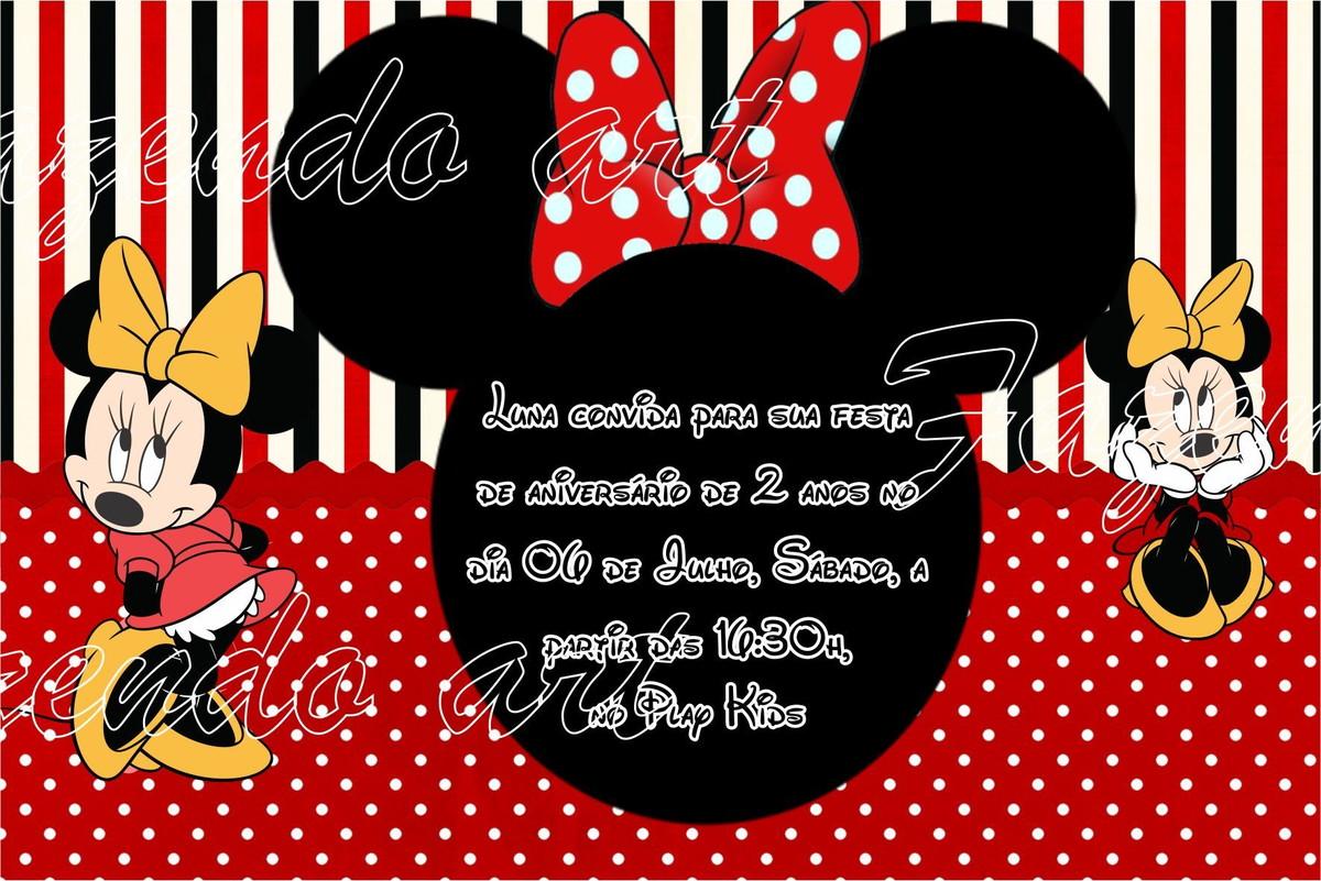 Arte Digital Convite Minnie Vermelha No Elo7 Fazendoart 3110f3