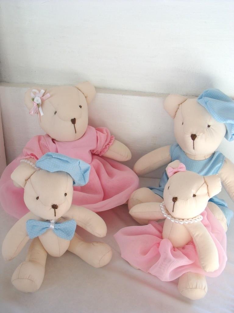 Kit Ursos Decora O Para Casal De Gem Os Artes D Da E L Elo7 ~ Quarto De Bebe Azul E Marrom E Quarto Para Gemeos Casal