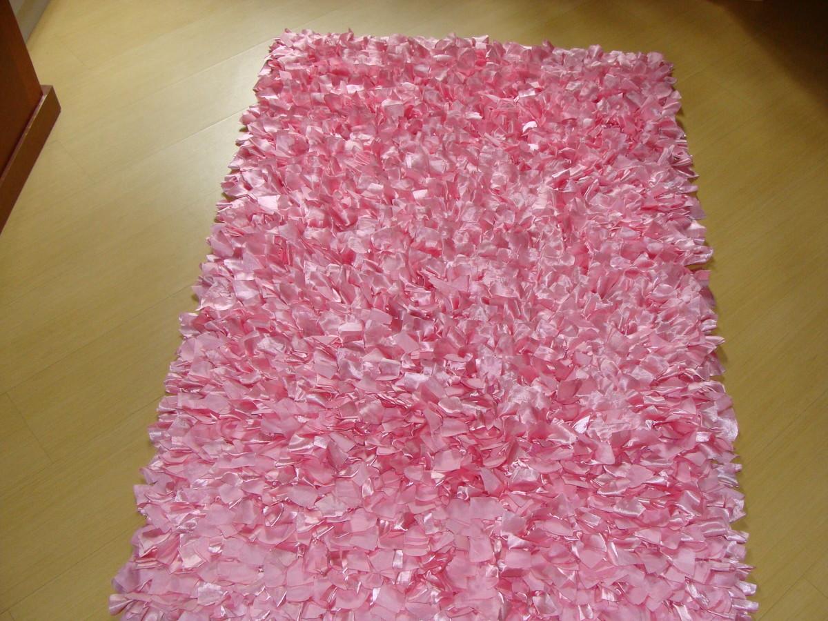Tapete de cetim rosa no elo7 jm tapetes 379141 for Rosa tapete