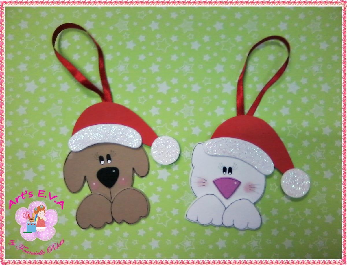 Enfeites Natal animais no Elo7 Arts E V A (37B151) -> Decoração Em Eva Natal