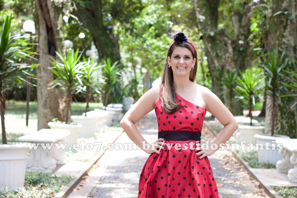 1da948e34a Vestido Adulto Joaninha Alça Única no Elo7