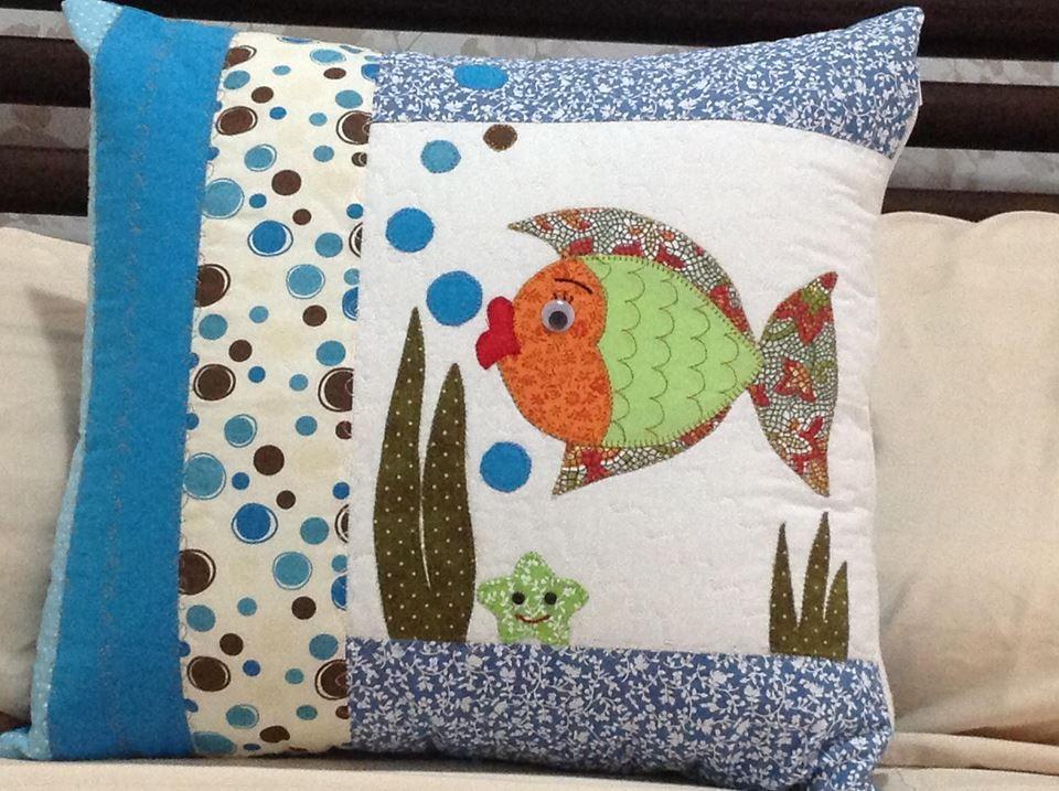 Conhecido Almofada peixinho - azul no Elo7 | Ateliê Arte & Cor by Miriam  PR91