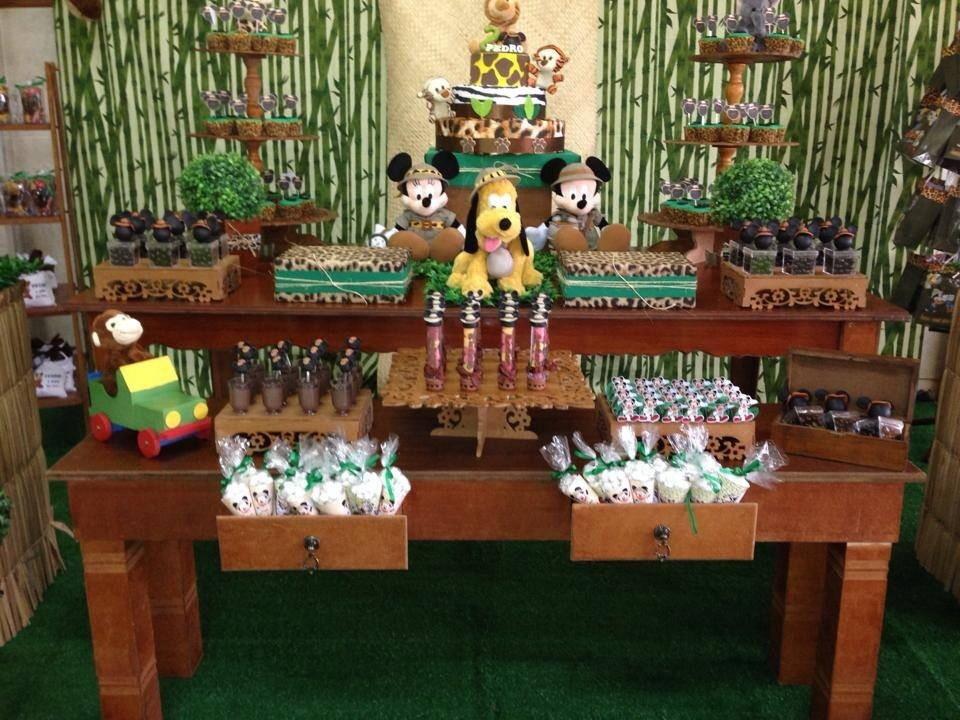 Decora o festa mickey safari r 350 00 buqu beb elo7 - Decoracion rustica barata ...
