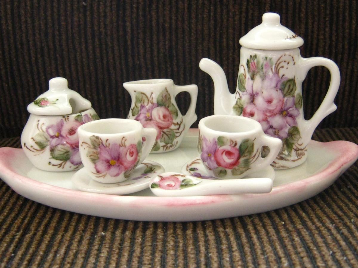 Miniatura porcelana 85 00 conjunto no elo7 tudo de arte for Marcas de vajillas de porcelana