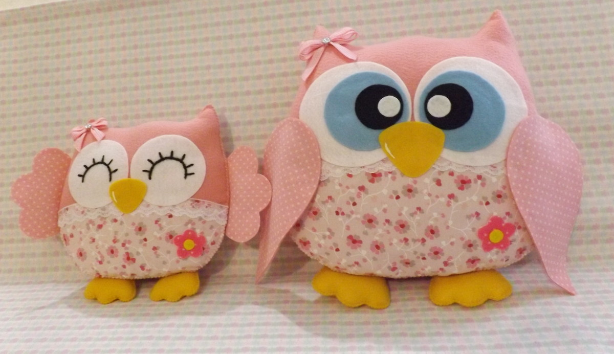 -almofadas-coruja-rosa-decoracao-coruja conjunto-almofadas-coruja ...