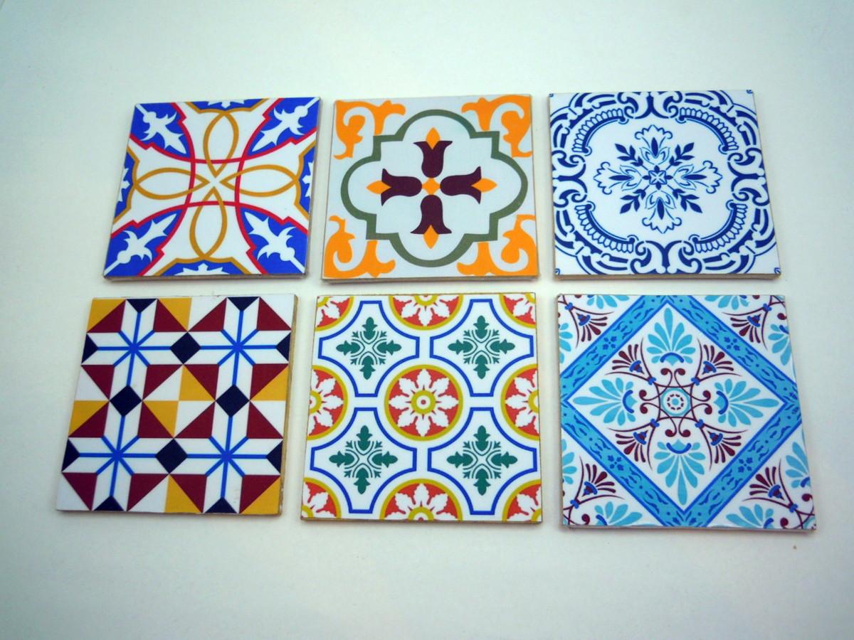 Porta copos azulejo portugu s lpeople objetos decorativos elo7 - Azulejos portugueses comprar ...