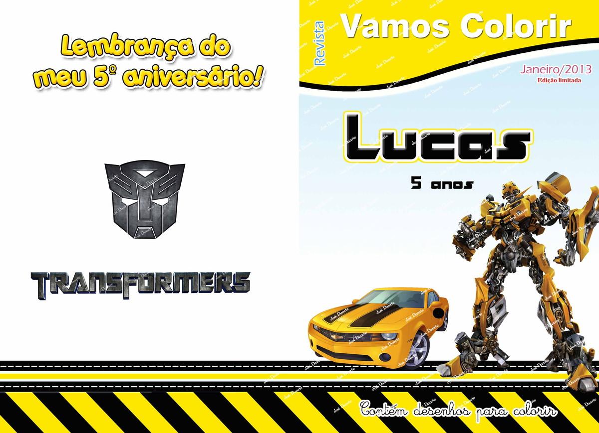 livrinho de colorir transformers no elo7 loja criativa presentes