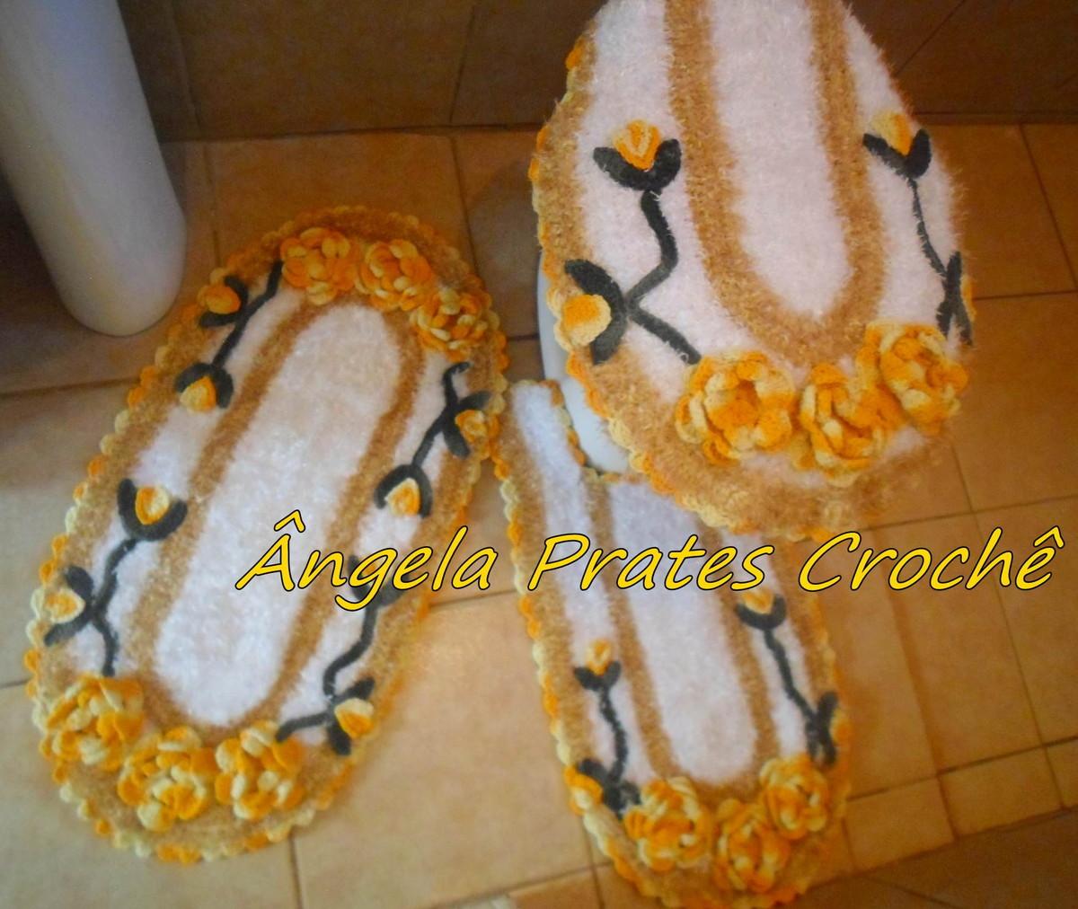 Jogo De Banheiro Marrom E Amarelo : Tapete peludinho branco e amarelo no elo ?ngela prates