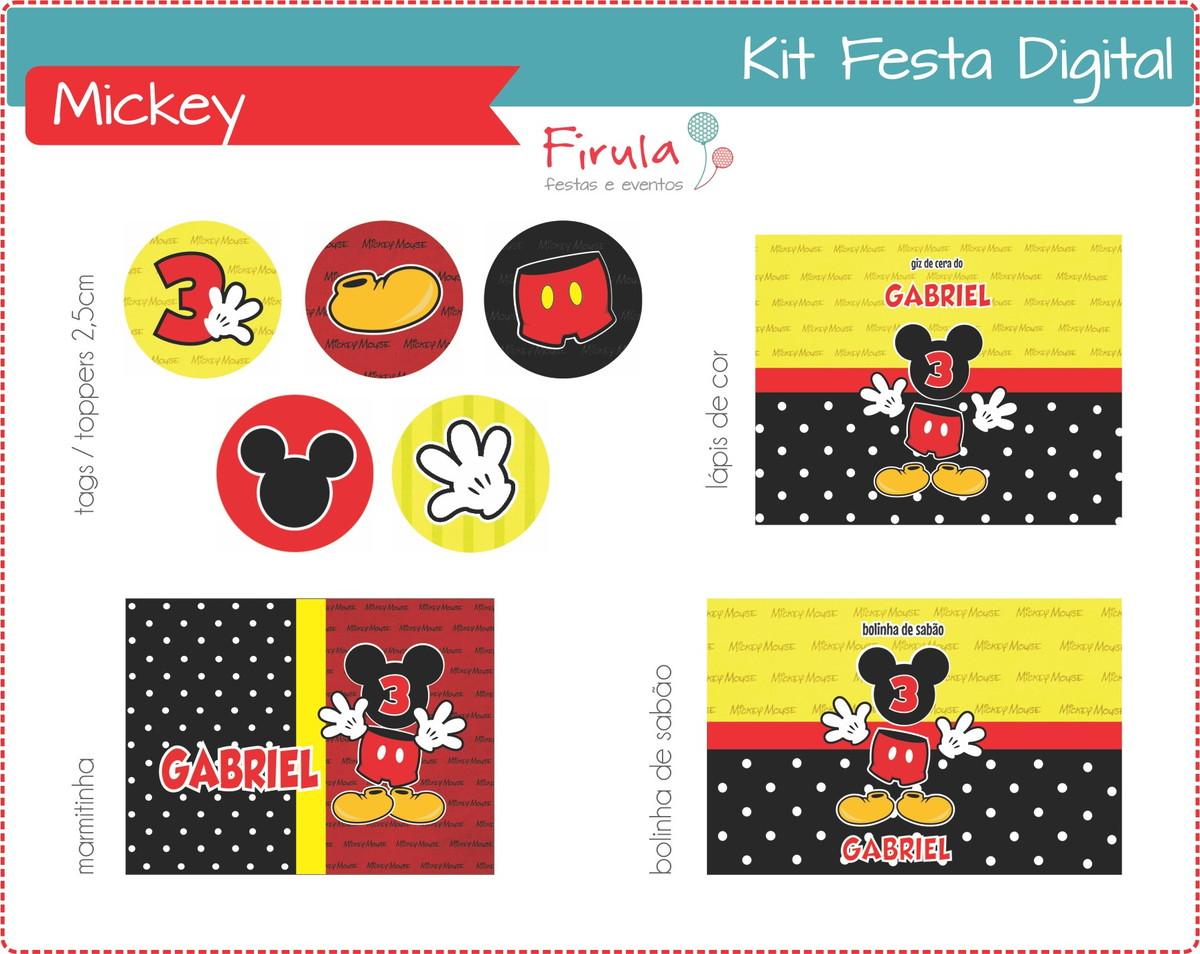 Kit Festa Digital Mickey Mouse No Elo7 Firula Festas 3aeef7