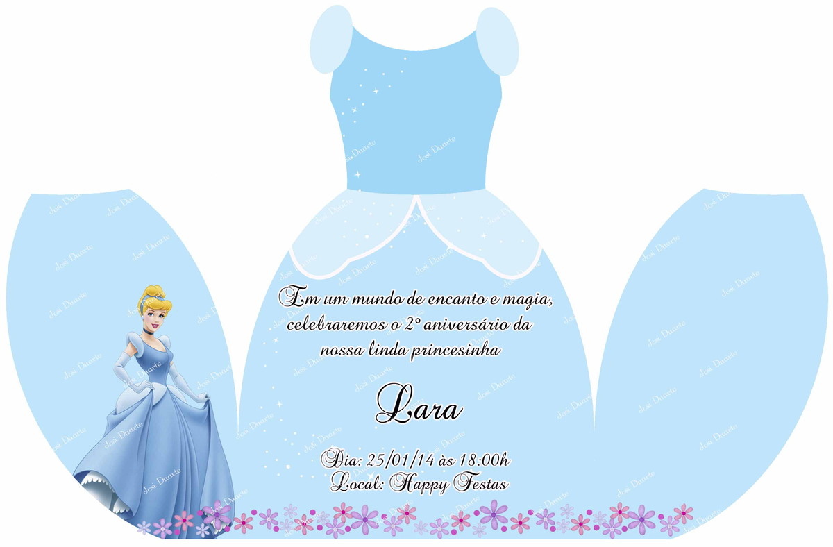 convite vestido cinderela no elo7 loja criativa presentes 2d322d