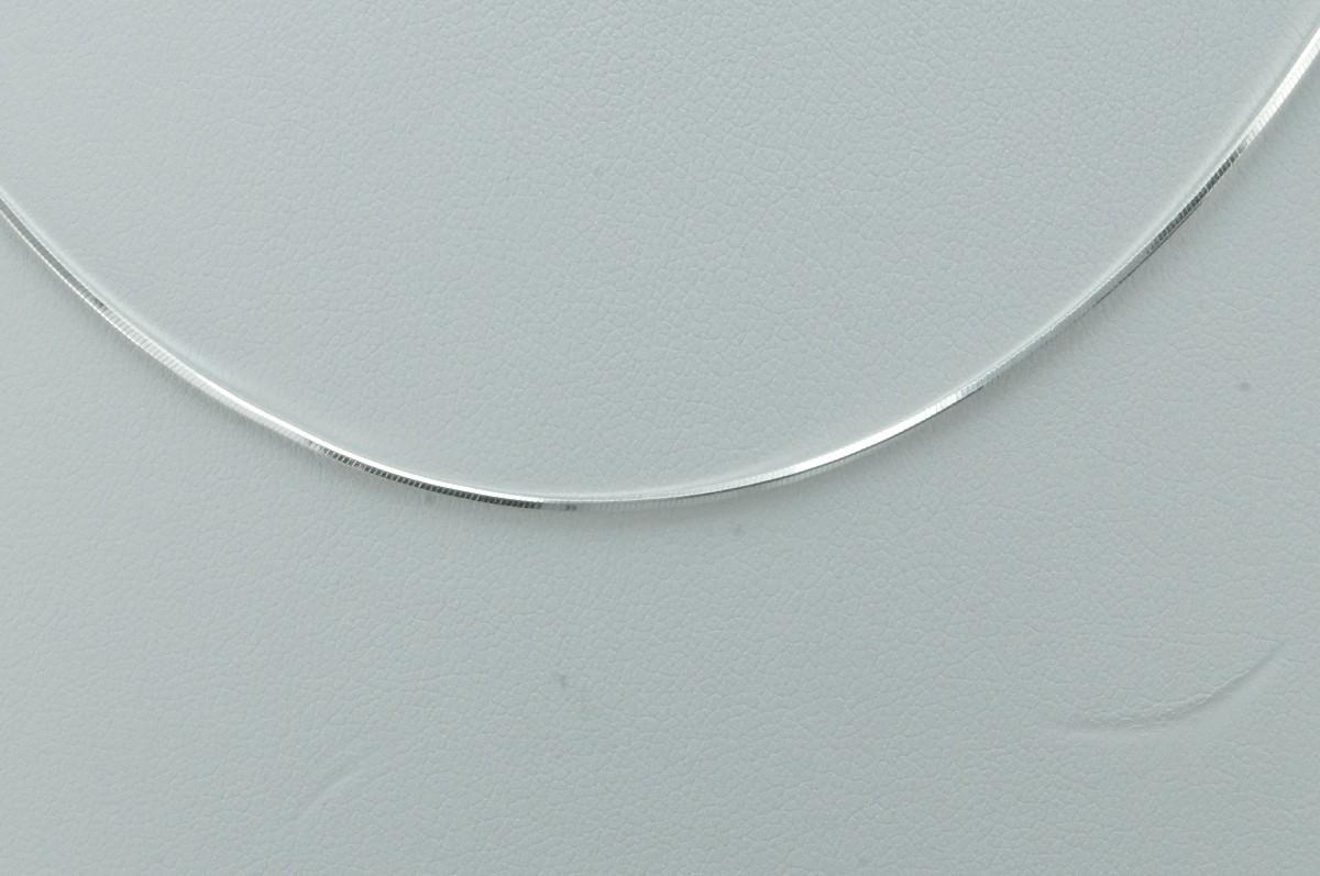 Corrente rabo de rato em prata 45cm no Elo7   Águas Claras Presentes ... b7e6d5d93b