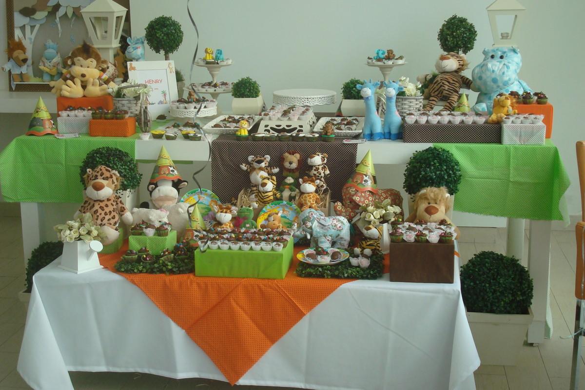 Decoraç u00e3o de mesa tema Zoo ou Bichos no Elo7 Caramelada Decorações (3B4995) -> Decoração Festa Infantil Zoologico