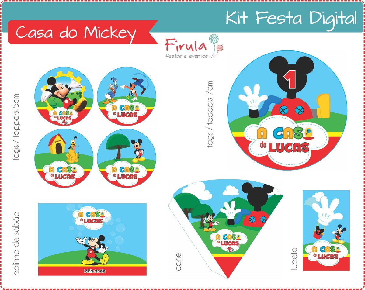 Kit Festa Digital Casa do Mickey no Elo7  090b0a80f8192