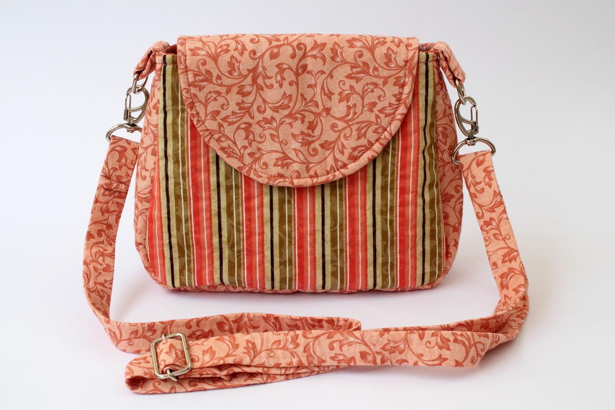 Bolsa De Viagem Em Tecido Passo A Passo : Bolsa tiracolo de patchwork ateli? arroio elo