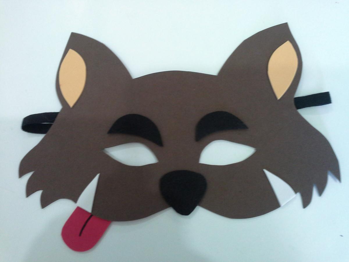f676dad0382 mascara lobo mau eva no Elo7