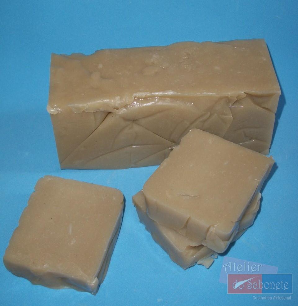 Loja Artesanato Indiano ~ Sabonete barra 1 Kg Argila branca Atelier do Sabonete