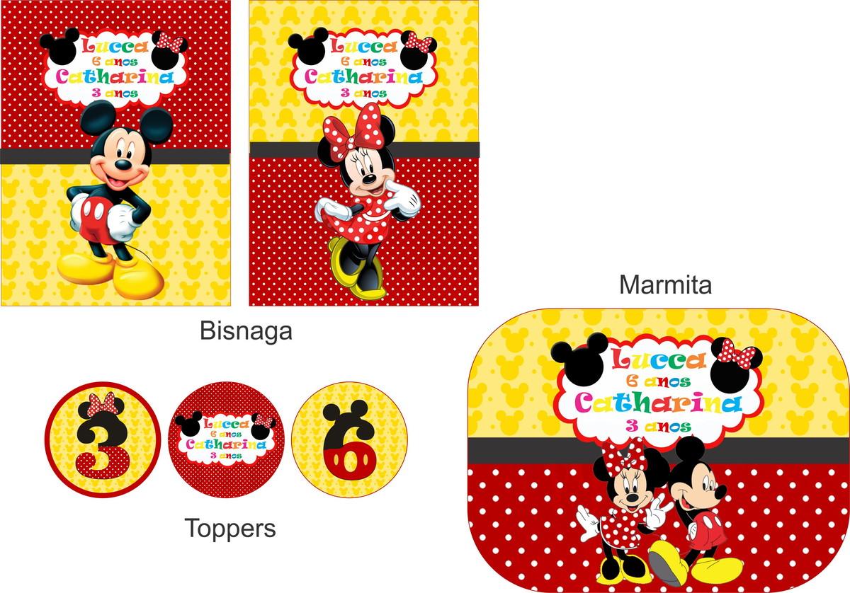 Festa Personalizada Mickey E Minnie No Elo7 Festa Personalizada