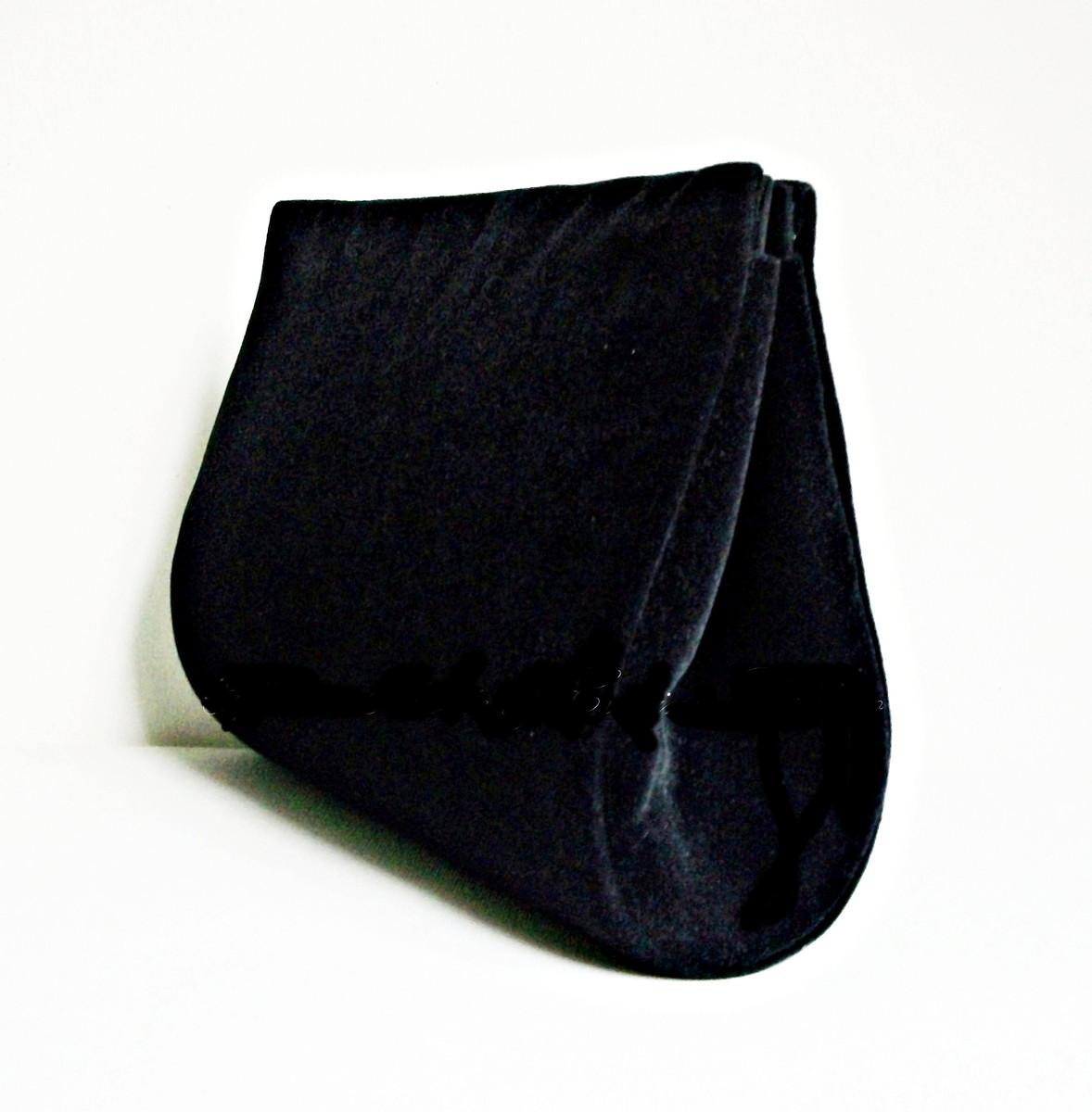 Bolsa De Mao Festas : Bolsa clutch veludo preta oficina de arte elo