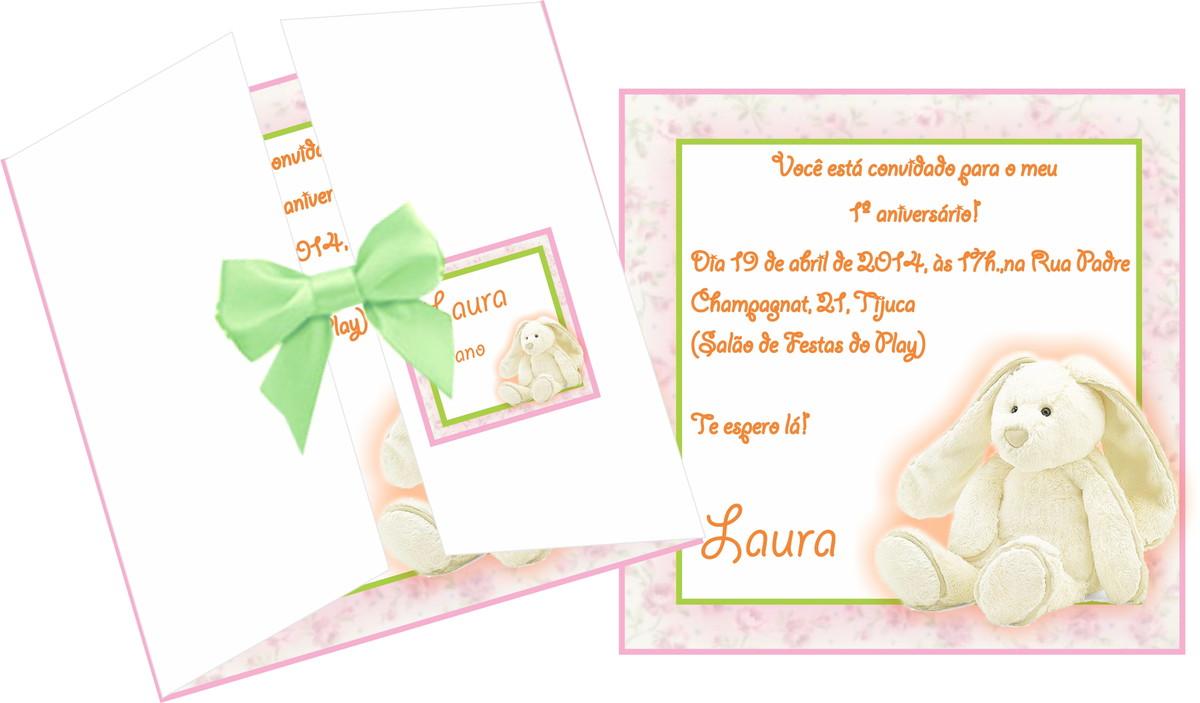 Convite Aniversário Páscoa