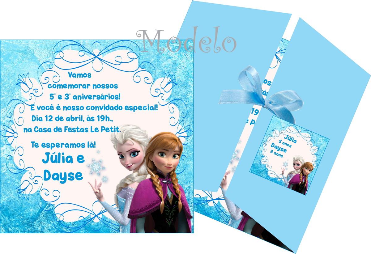 Convite Frozen | Andrews Convites e Lembrancinhas | Elo7