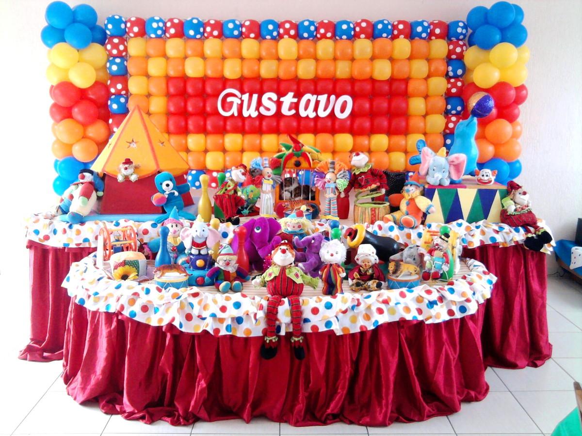 Decoraç u00e3o Festa Circo Painel de balões no Elo7 Rede Festas Decorações (3D201B) -> Decoração Com Balões Para Aniversário