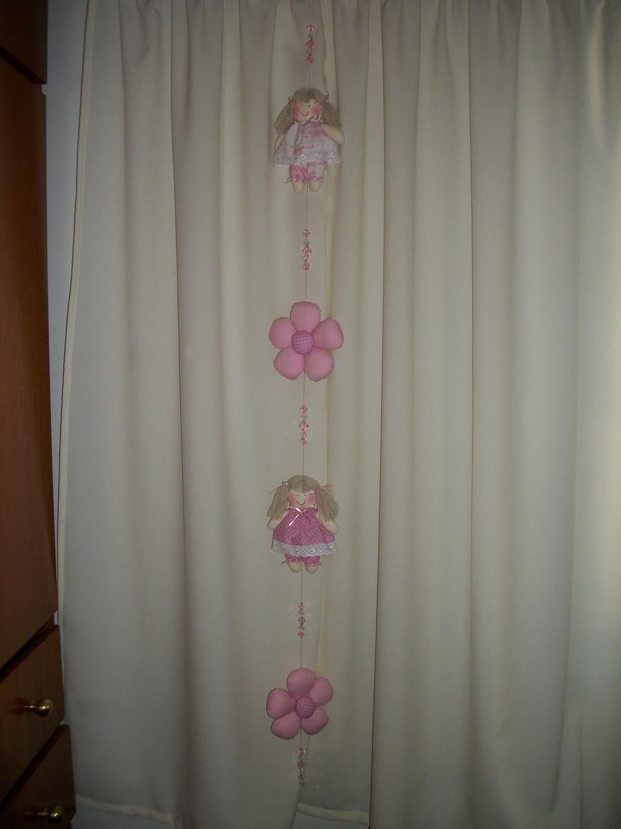 Pingente de cortina infantil flor par pidulikas elo7 - Cortinas infantil ...