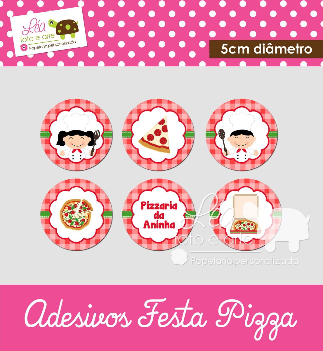 Artesanato Ideias De Natal ~ Tags Ou Adesivos Redondos Festa Pizza Léa foto e arte