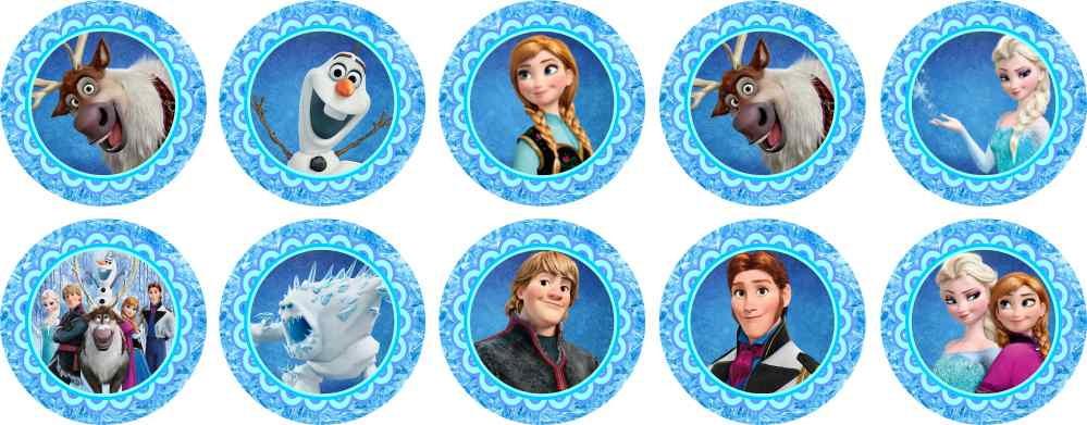 Artesanato Ideias De Natal ~ Frozen 15 Adesivos Marga Brindes Elo7