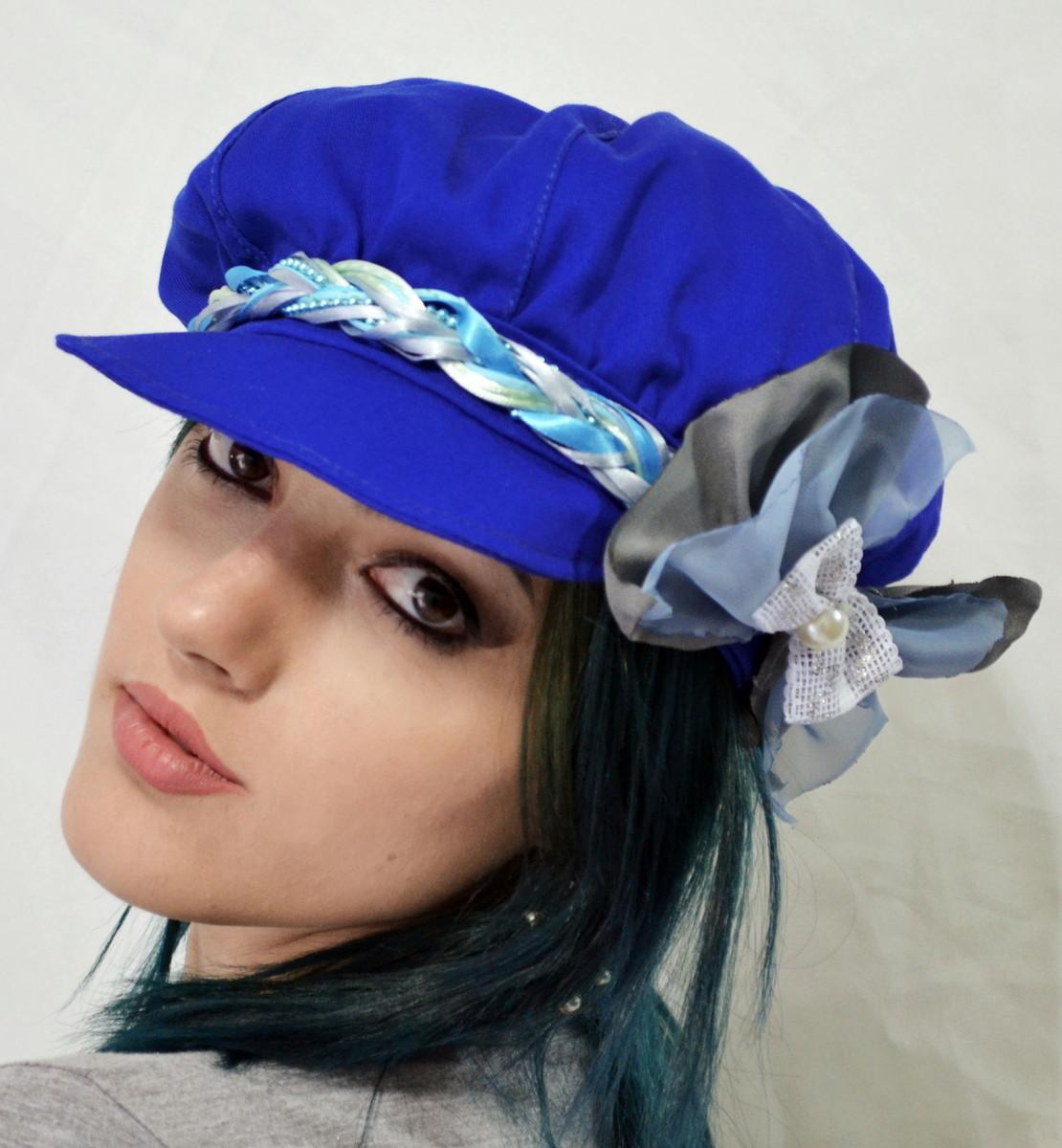 eaaf90b2a5879 Boina Azul Royal com Laço no Elo7