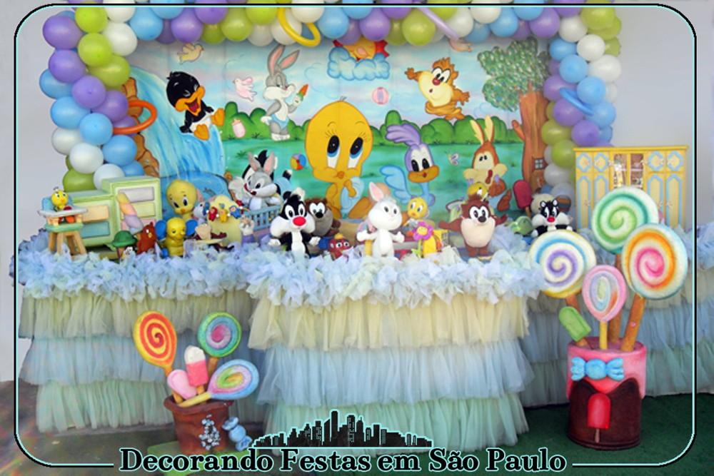 Decora 231 227 O Mesa Baby Looney Tunes No Elo7 Decorando