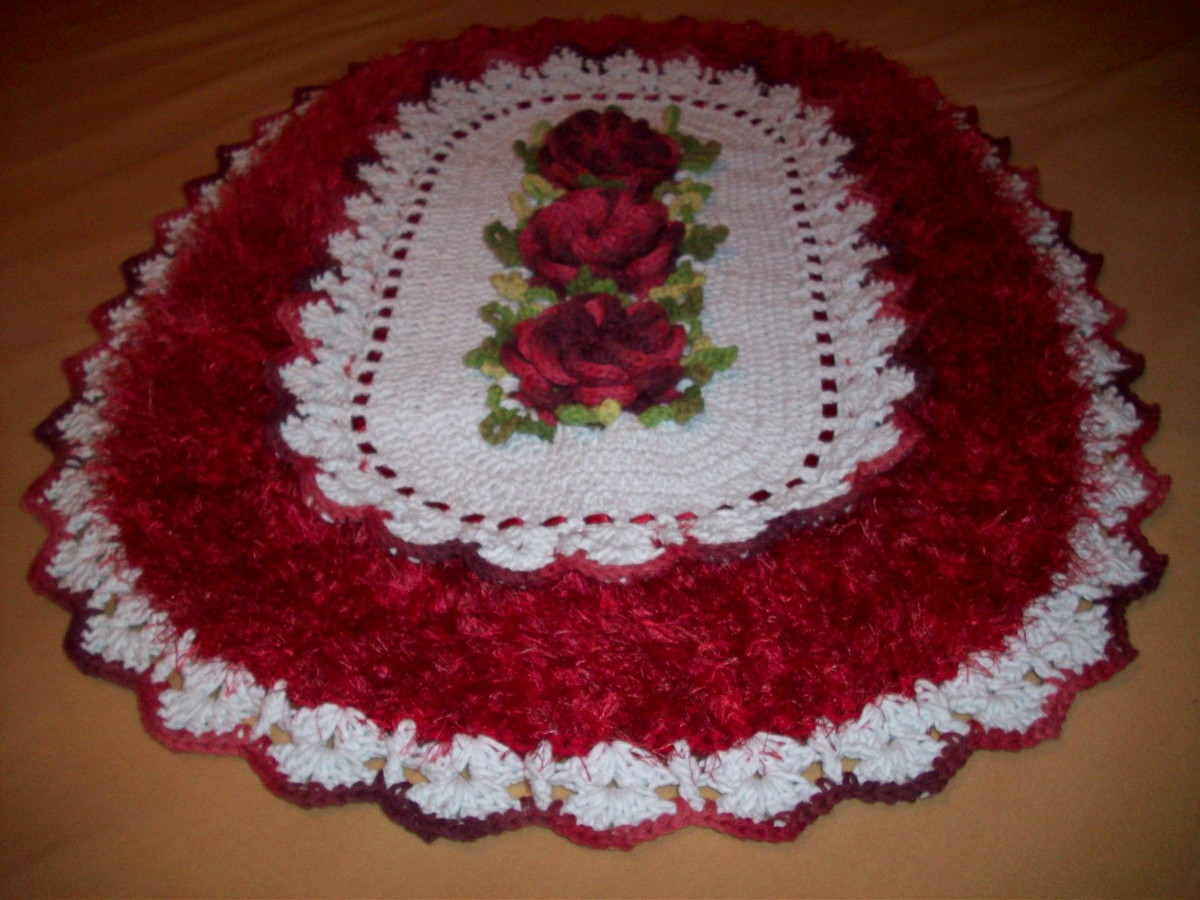 Tapete Flor Caracol Com Fio Peludo No Elo7 Ivonete Artes Em Croche  -> Fotos De Tapetes Peludos