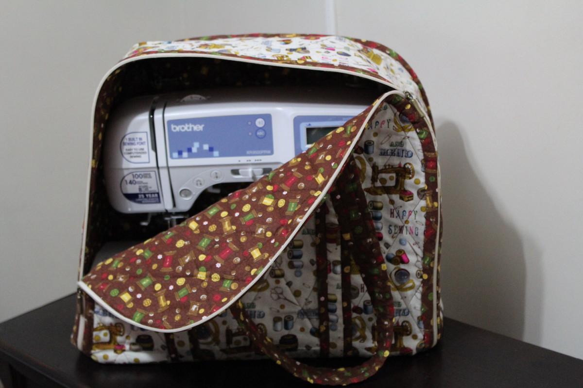 Bolsa De Tecido Quiltada : Bolsa para m?quina de costura no elo entre agulhas e