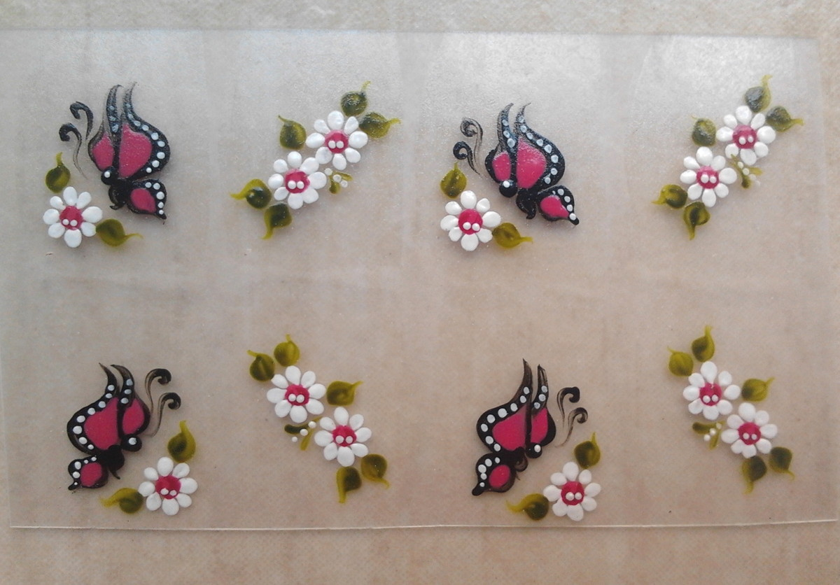 Borboleta Rosa Escuro Interc Com Flores No Elo7 Cica Adesivos