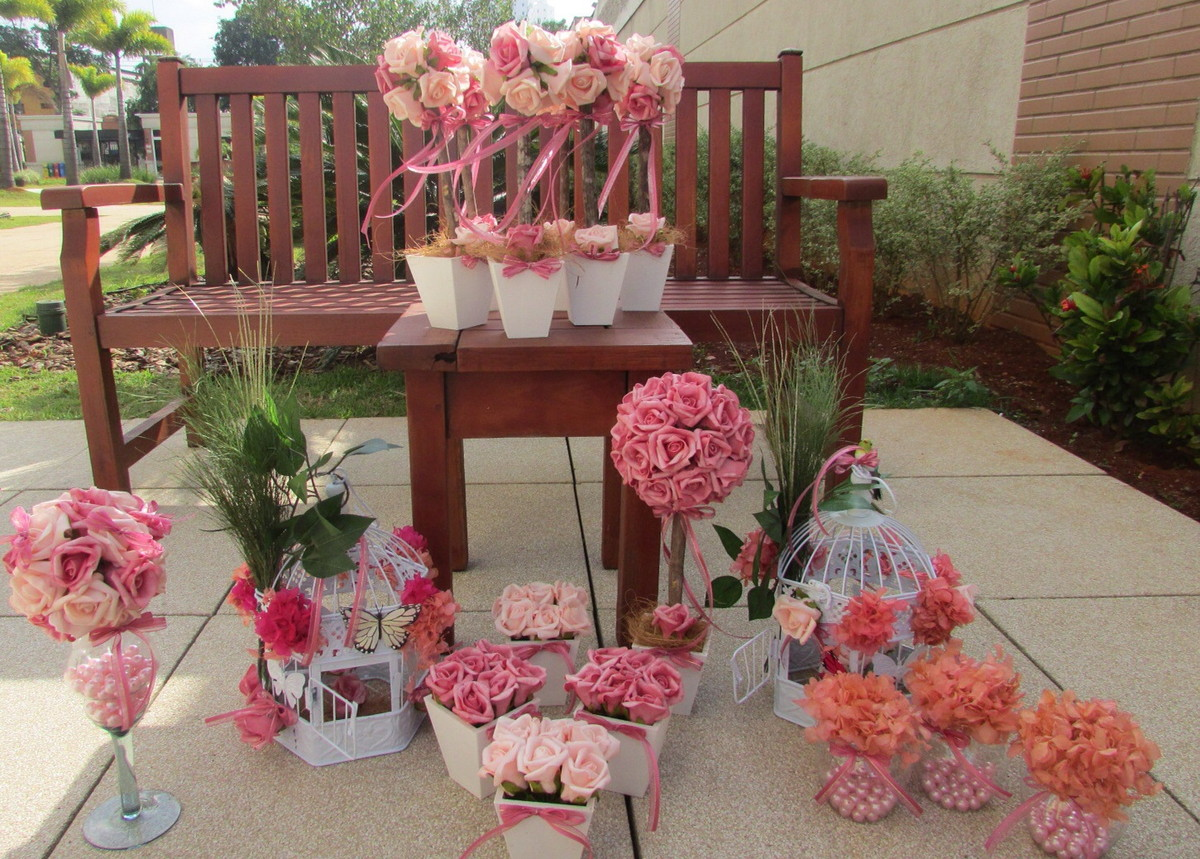 festa jardim encantado rosa e pink i gaiola provencal kit festa jardim