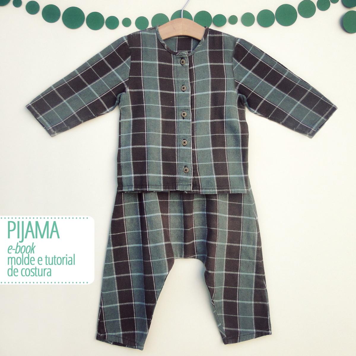 Pijama Infantil Pdf Digital Molde E Tutorial No Elo7