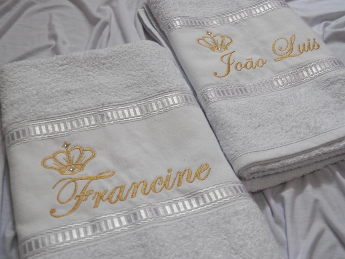 81b7f6eaa5 Kit toalhas personalizadas - Casal no Elo7