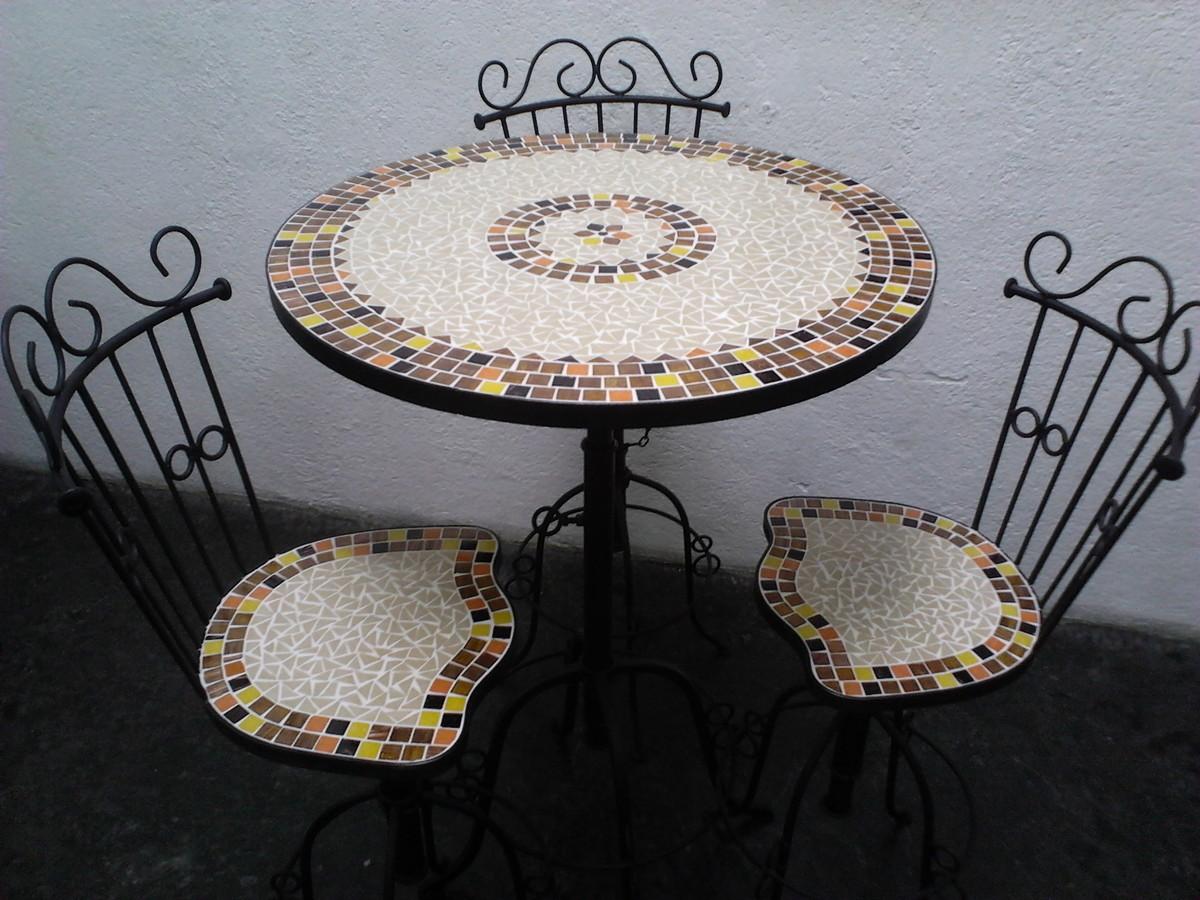 Mesa mosaico regulag altura no elo7 leiarts mosaico for Mesas de mosaico