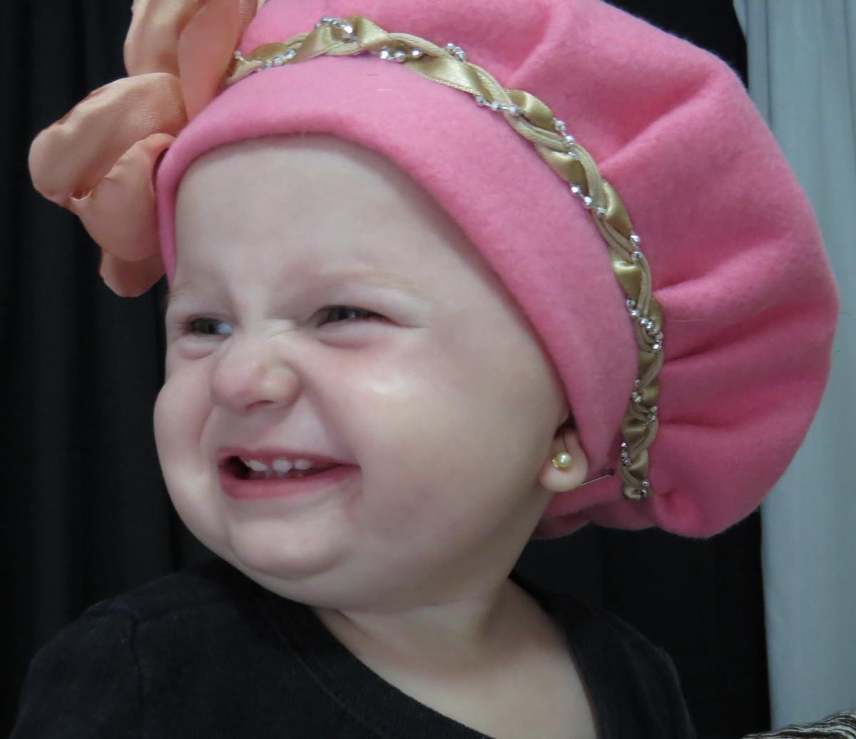613f64339ecf6 Boina Infantil em Soft Rosa no Elo7