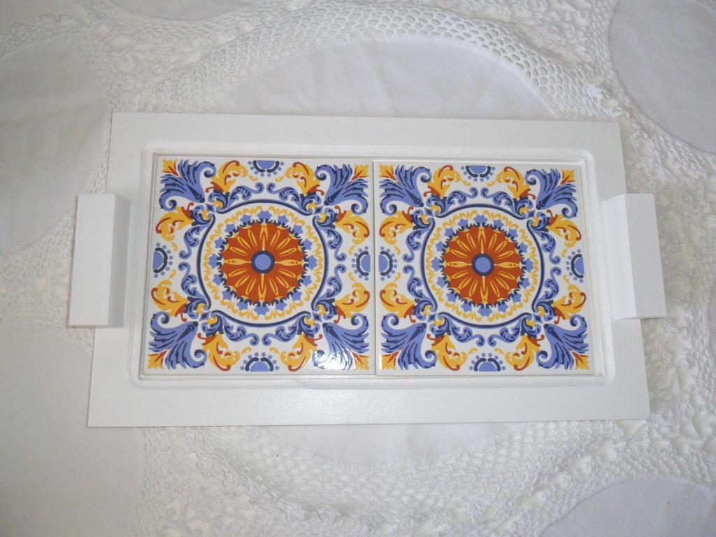 Artesanato Em Mdf Para Cozinha ~ bandeja 2 azulejos portugues Margarete Orlandi Elo7