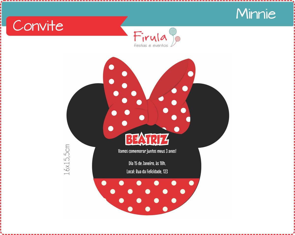 Convite Digital Minnie Vermelha No Elo7 Firula Festas 3f0bd2