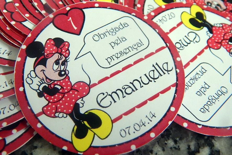 Adesivo Lembrancinha Personalizado ~ Adesivo personalizado Minnie Vermelha no Elo7 ARTES E IDEIAS PERSONALIZANDO (3F84EC)