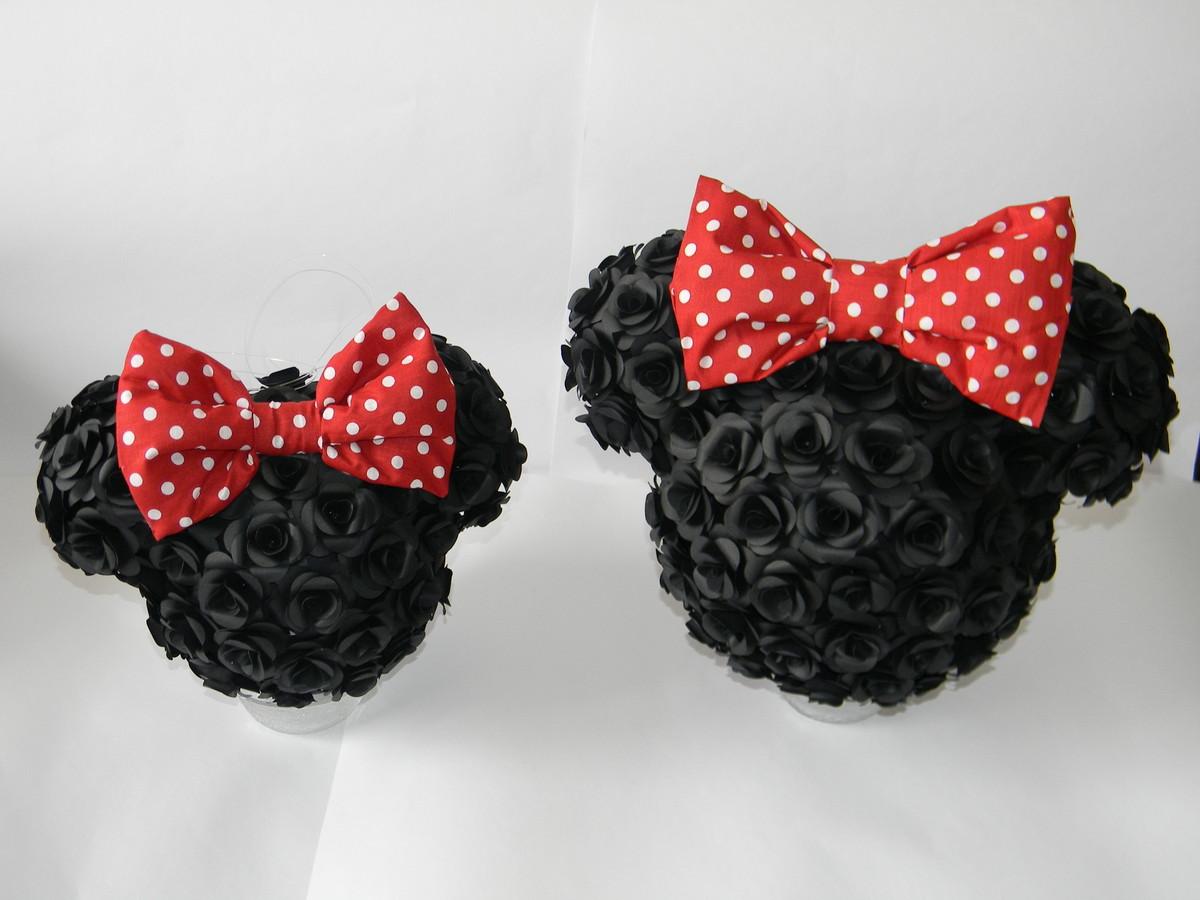 Bola de flores Mickey Minnie no Elo7 By Jackie Sotero Papelaria Criativa (3F98A5) -> Decoração De Flores De Papel Para Aniversario