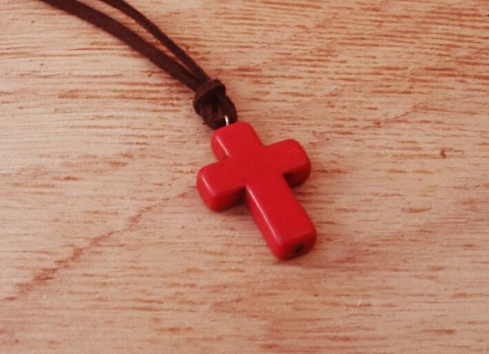 5c6a0fd57 Cordão Camurça Cruz Red no Elo7 | Tão Eu Acessórios Masculinos (3FBC70)