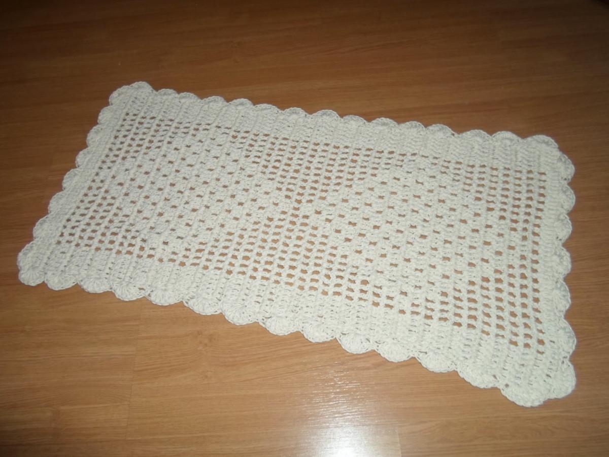 Tapete De Barbante Em Croche Retangular No Elo7 Artes Da Vida 2