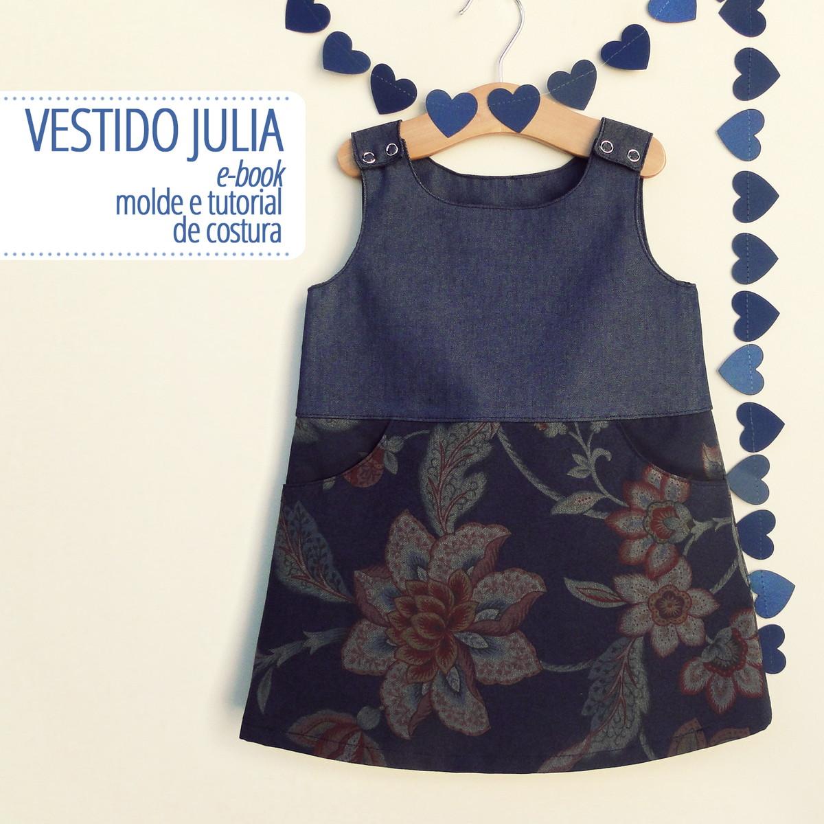 Vestido Julia Pdf Digital Moldes E Tutorial No Elo7 Costurinha