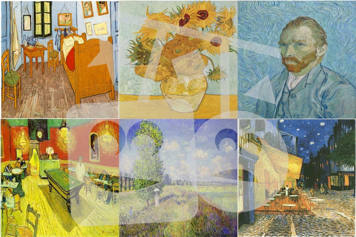 Imãs Quadros Vincent Van Gogh no Elo7   :: Dupla de Dois ...