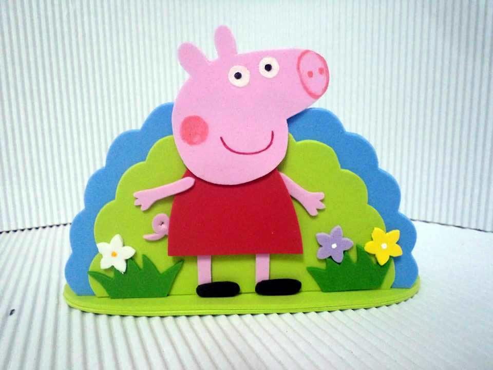 Zoom · Molde Porta Guardanapos Peppa Pig em EVA