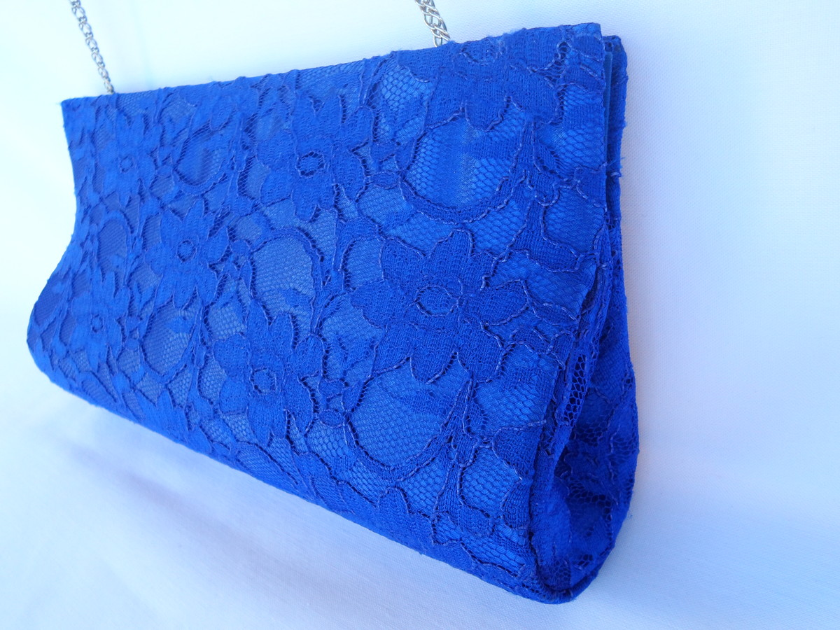 Bolsa De Festa Azul Bic : Bolsa de renda azul l? criativa elo