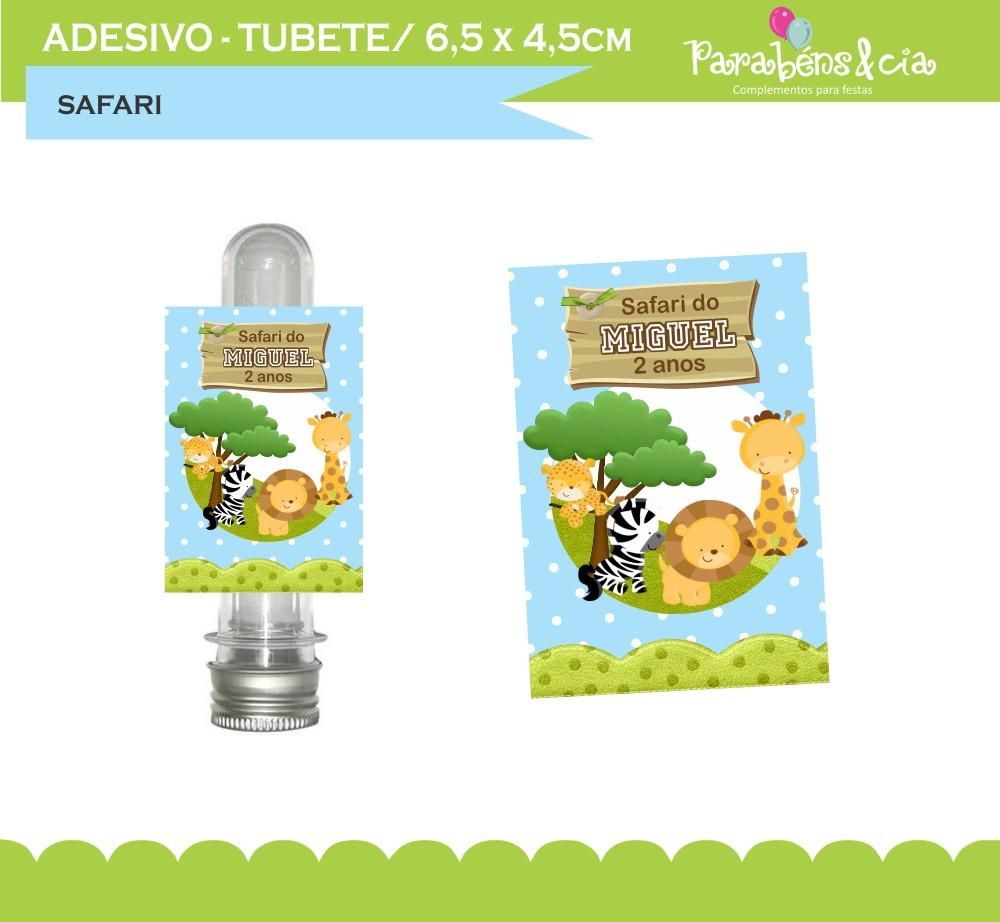 Artesanato Ideias De Natal ~ Adesivos tubete Safari baby no Elo7 Parabéns e Cia (417D6A)