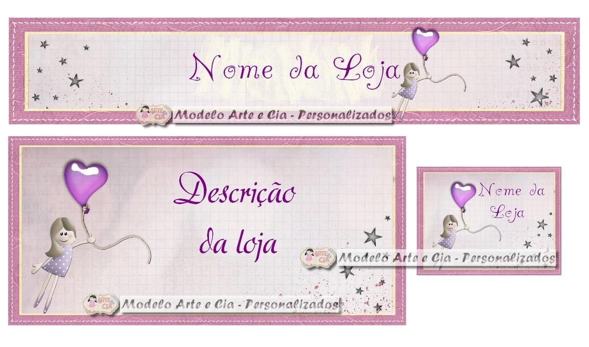 Nomes De Lojas De Artesanato Sustentavel ~ Kit Loja Virtual elo7 (Boneca lilás) Arte e Cia